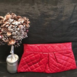 Urban Expressions Quilted Envelope Clutch 🍒 Red