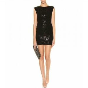 "Alice +Olivia ""Frankie"" Sequin Dress Sz 4 Black"