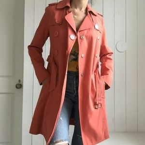 MARC BY MARC JACOBS  ORANGE COTTON TRENCH COAT