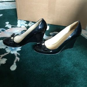 Kate Spade Patent Leather Wedge 7.5