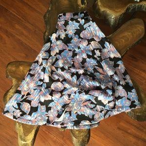 Midi Flare Floral Skirt