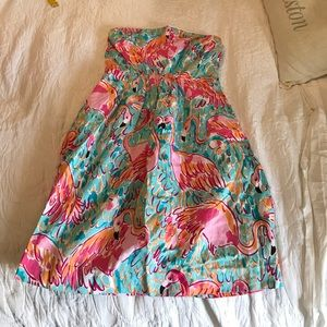 Lilly Pulitzer Strapless peel and eat shrimp Dress
