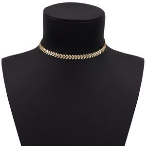 Jewelry - Coin Chevron Snake Gold Chain Necklace Choker