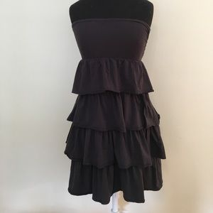 J Crew strapless tiered dress