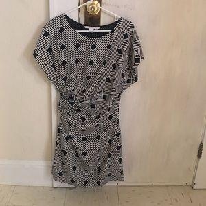 Diane vonFurstenberg silk geometric dress.