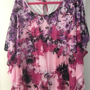 Multicolored flowery blouse