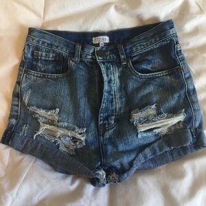 Tobi High Waisted Jean Shorts