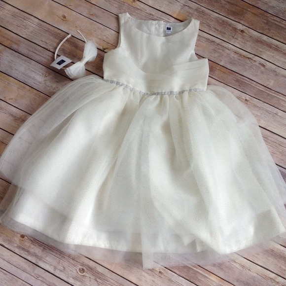 9b9d841917 Janie   Jack shimmer tulle dress and headband