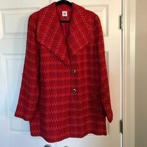 Cabi Red Sloan Coat