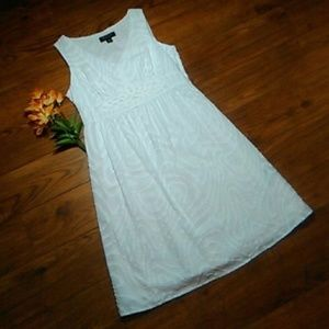 NWOT Perceptions New York White Sundress Size 12