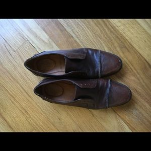 Madewell brown laceless loafers 7.5