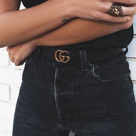 4d709e175d5 NWT Gucci Marmont skinny GG belt size 70