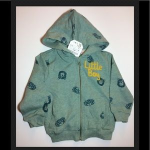 Zara Baby Boy Cotton Animal Sweatshirt 12-18M GR