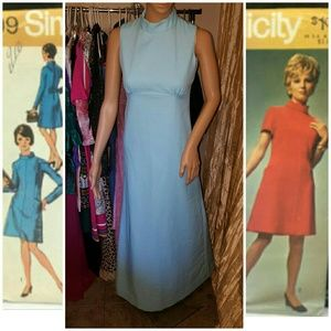Authentic 1970s maxi formal dress