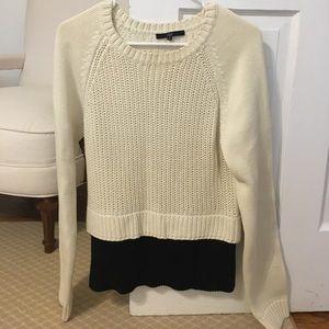 Tibi black and white cotton sweater