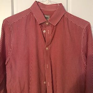 Asos red gingham button up