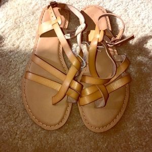 Tan women's sandals light brown size 6