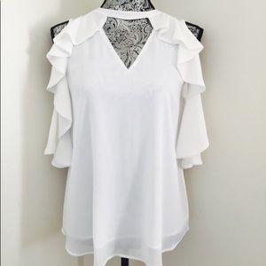 💥NWT!!💥 Michael Kors gorgeous white blouse!🎉