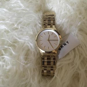DKNY NY2482 gold stainless steel chronograph