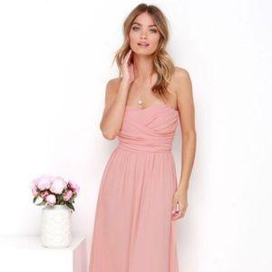 Lulu's Strapless Maxi Dress