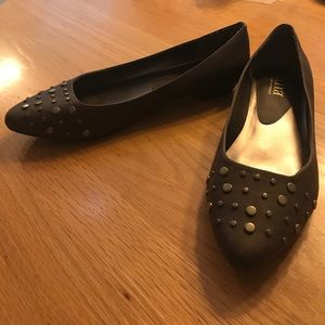 Brown Studded Flats by a.n.a.