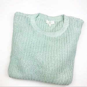 LOFT Lou & Grey Mint Blue Sweater.