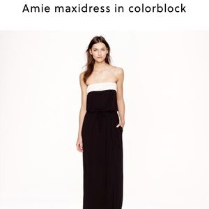 Amie Maxi dress in color black from J. Crew