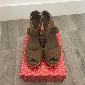 Tory Burch wedged espadrille heels