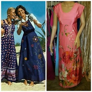 Authentic vintage Hawaiian maxi dress