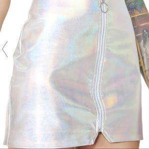 Holographic Rave Costume Skirt