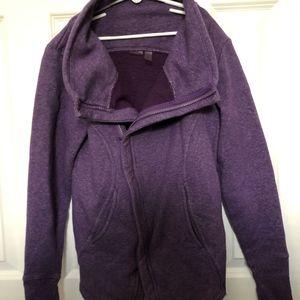 Purple Zella Asymmetrical Zip up sweatshirt, sz XS