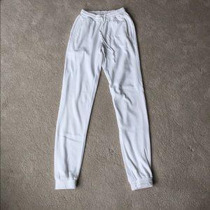 Brandy Melville White Jogger Sweatpants