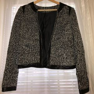 Black and gray wool jacket