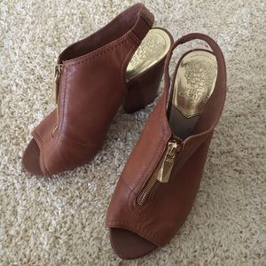 Vince Camuto leather wedges