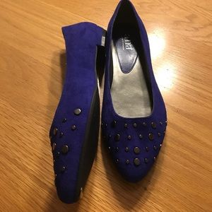 NWT Royal Blue Studded Flats by a.n.a.