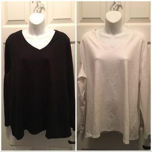 18/20 LANE BRYANT Supima Cotton Pullover Tees