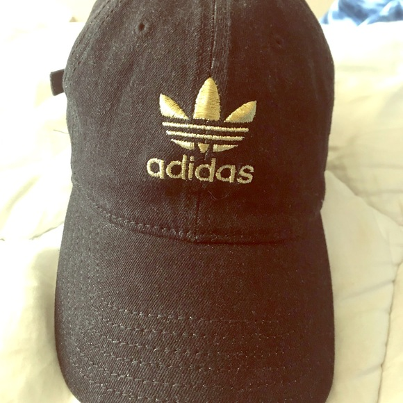 Black and gold Adidas Hat aa16b728d8c2