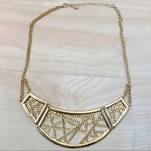 H&M Gold Chain Web Necklace