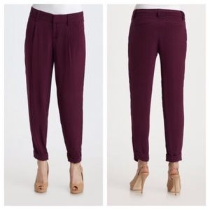 Plum trousers- Alice and Olivia