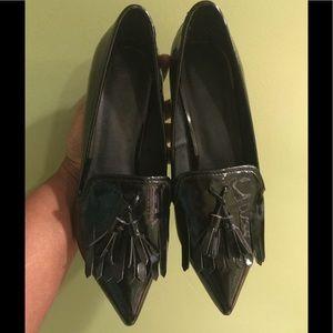 ASOS Faux Leather Tassel Kitten Heels