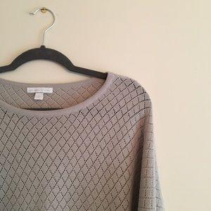 Ny&Co gray 3/4 sleeve sweater