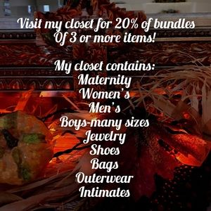 Other - Check out my closet!!🍁
