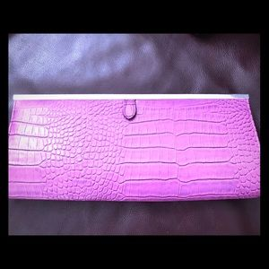 Aldo pink clutch with silver chain strap