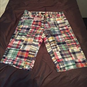 Jcrew women's plaid shorts
