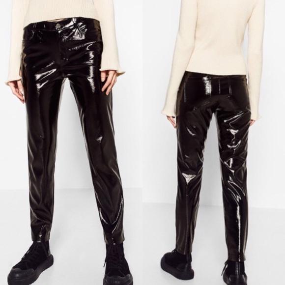 f08470bf Zara Pants   Sale Patent Faux Leather   Poshmark