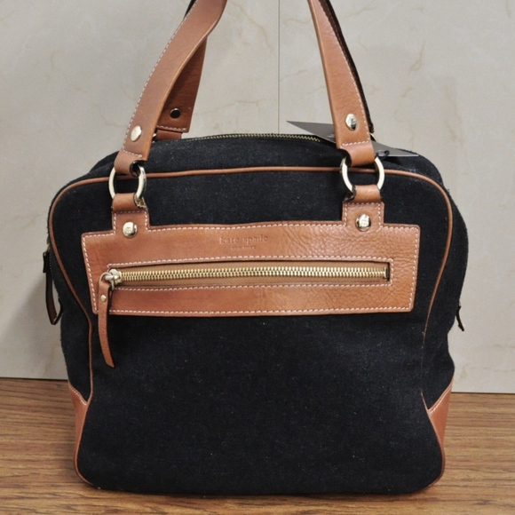 9239e0934a1 kate spade Bags   Wool Leather Trim Satchel Bag Purse T   Poshmark