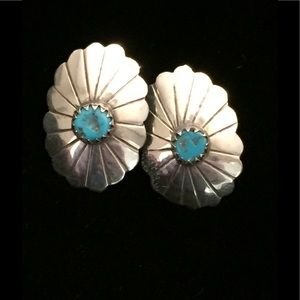 Jewelry - Turquoise and Silver Post Earrings
