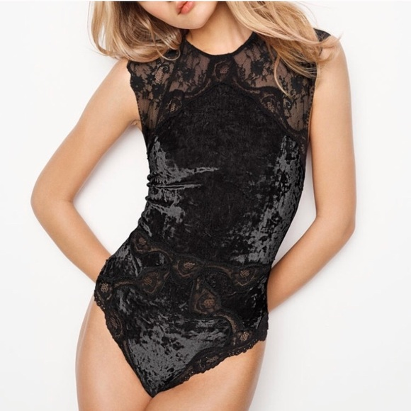077ba46286 Victoria s Secret crushed velvet teddy bodysuit