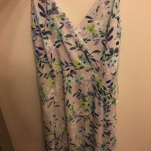 Never worn floral maxi dress