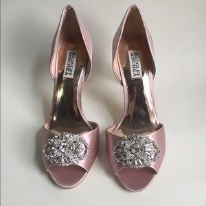 Badgley Mischka peep toe heels size 8